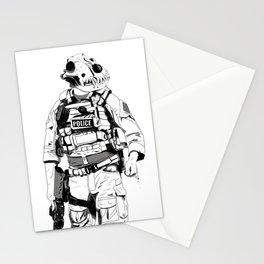 K9 B&W Stationery Cards