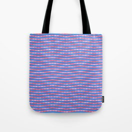 Waving Fuzzy Pink and Blue Pattern Tote Bag