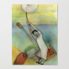 Airborn Dandelion Canvas Print