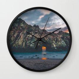 Jagged Rock Island Wall Clock