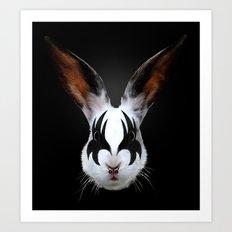 Kiss of a Rabbit Art Print