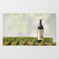 wine Area & Throw Rugs featuring Wine by Gouzelka