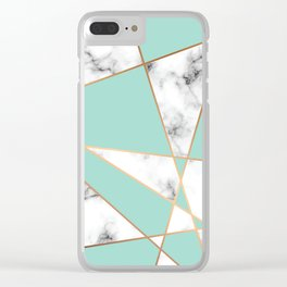 Marble Geometry 055 Clear iPhone Case