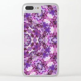 Geometric Mandala Clear iPhone Case