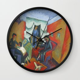 Ernst Ludwig Kirchner Interieur 1915 Wall Clock