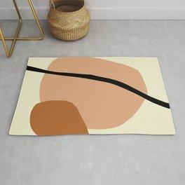Modern lemon and brown geometric  Rug