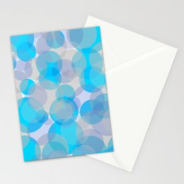 Blue circles pattern Stationery Cards