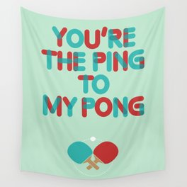 Love is like ping pong Wall Tapestry