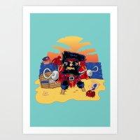 Lucky the Pirate Art Print