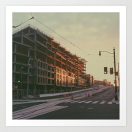 Sunlit D.C. Construction Art Print