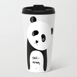 panda morning Travel Mug