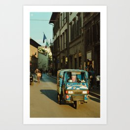 Busy Florence Streets Art Print