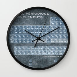 Tableau Periodiques Periodic Table Of The Elements Vintage Chart Blue Wall Clock