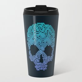 Labyrinthine Skull - Neon Travel Mug