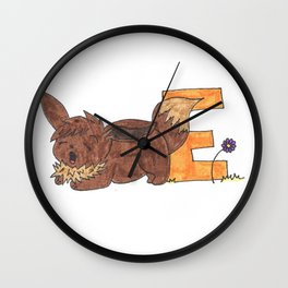 E is for Evee Wall Clock