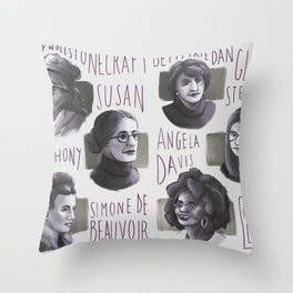 Portraits of feminism Throw Pillow