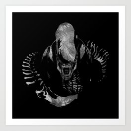 Aliens Here Art Print