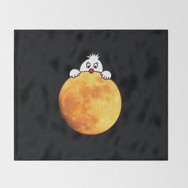 Man in the Moon Throw Blanket