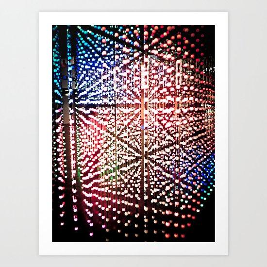 Madness lights Art Print