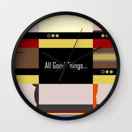 TNG - All Good Things - Minimalist Star Trek TNG The Next Generation 1701 D  startrek  Trektangles Wall Clock