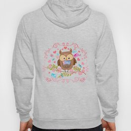 Owl And Love Letters Hoody