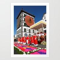 religious Art Prints featuring Religious festival by Gaspar Avila
