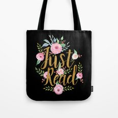 Just Read - Black Tote Bag
