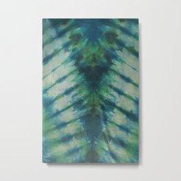 Tie Dye Blue Green 9 Metal Print