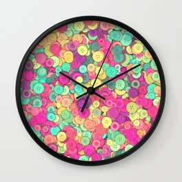 Colorful Buttons Wall Clock