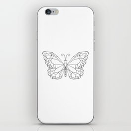 Polygonal Butterfly Monarch iPhone Skin