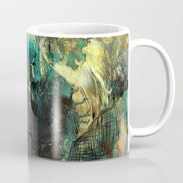 Abstract Grunge Elephant Digital art Coffee Mug