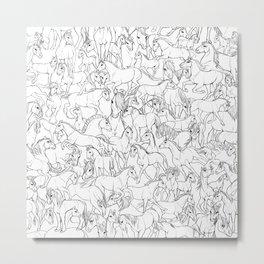 10,000 horses Metal Print