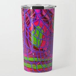 Mask with spiderweb Travel Mug