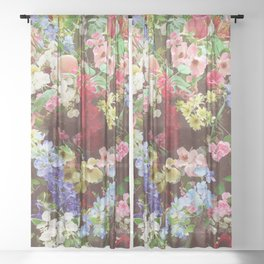 Floral Explosion Sheer Curtain