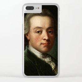 Wolfgang Amadeus Mozart (1756 -1791) portrait Clear iPhone Case
