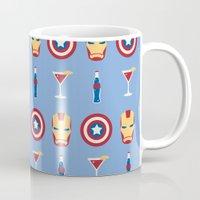 superheroes Mugs featuring Superheroes by Kelslk