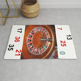 Roulette wheel casino gaming design Rug