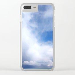 Coastal Clouds Seascape Cancale Bretagne France Clear iPhone Case