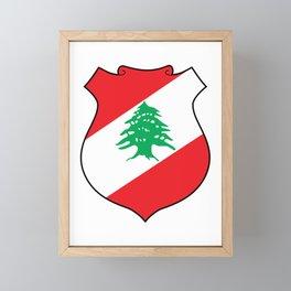 Lebanon Coat of Arms  Framed Mini Art Print