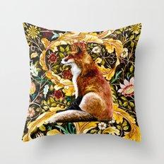The Fox King Original Watercolor Throw Pillow