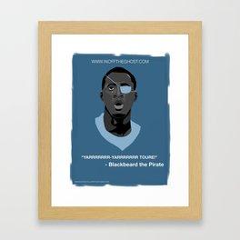 Ya-Ya Toure - YARRRRRRR-YARRRRRRR TOURE - Blackbeard the Pirate Framed Art Print