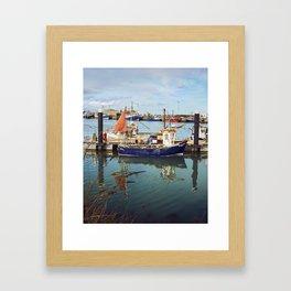 Howth Harbour Boats Framed Art Print