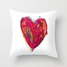 Funky Heart Throw Pillow