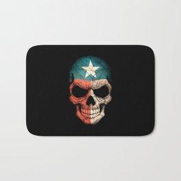 Dark Skull with Flag of Texas Bath Mat