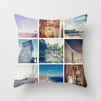 france Throw Pillows featuring FRANCE by SarahS