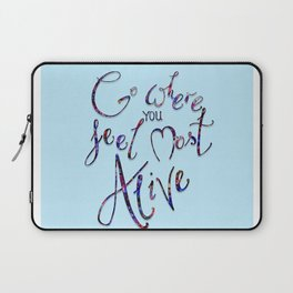 What makes you happy Laptop Sleeve