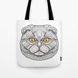 Scottish Fold cat Tote Bag