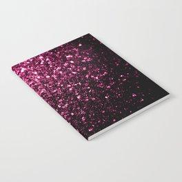 Beautiful Dark Pink glitter sparkles Notebook