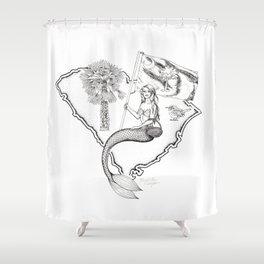 South Carolina Mermaid Shower Curtain