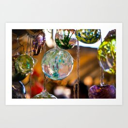 in that orb was a story of color and fire Art Print